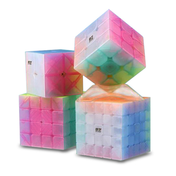 QiYi 2x2 3x3 4x4 5x5 Jelly Cube Design Speed Cube Puzzle Magic Cube Base Cubo Magico Educational Toys For Children qiyi qidi s 2x2 magic cube speed cube toy professional speed puzzle cube training brain toys gifts for children
