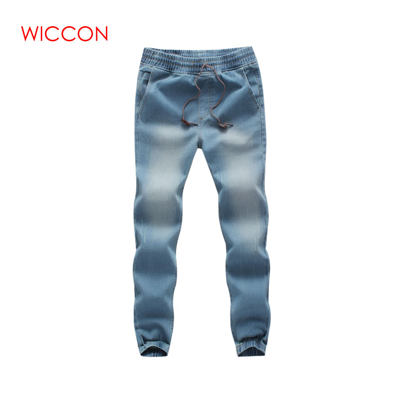 Brand 2019 New Men's Cotton Stretch   Jeans   Pants Slim Fit Denim Trousers Casual   Jeans   Men Biker Joggers Large Size