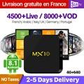 IPTV France Box MX10 Android 8.1 RK3328 1 Year QHDTV IUDTV SUBTV Code IPTV Spain Italia Dutch UK Belgium French Arabic IPTV Box