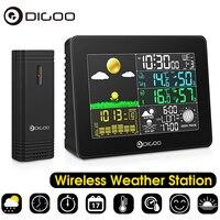 Digoo DG TH8868 Digital Weather Station Wireless Outdoor Forecast Sensor Temperature Instruments Hygrometer Thermometer Clock
