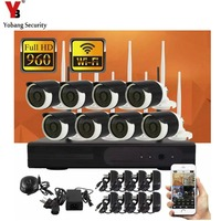 8CH 960P HD Wireless Network IP Security Camera System WIFI NVR Kits With 8PCS 1 3