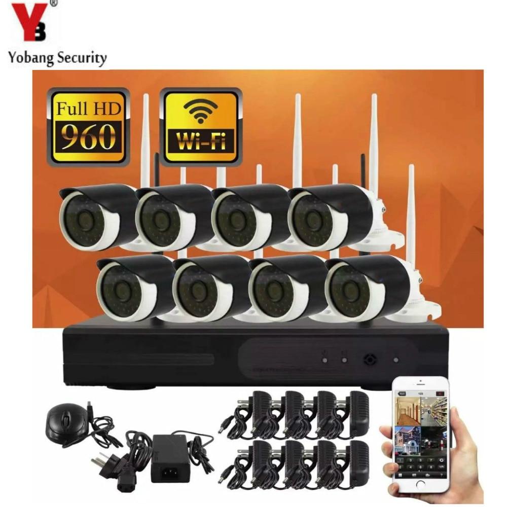 YobangSecurity 8CH 960 P Rete Wireless/IP Sistema di Telecamere di Sicurezza WIFI NVR Kit Con 8X1.3 MP Wireless Pallottola esterna Telecamera ipYobangSecurity 8CH 960 P Rete Wireless/IP Sistema di Telecamere di Sicurezza WIFI NVR Kit Con 8X1.3 MP Wireless Pallottola esterna Telecamera ip