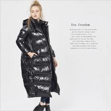 M-5XL Большие размеры женские зимние модные брендовые 90% утка Парки Поддельные Комплект из двух предметов кокон стиль дольше теплая куртка W1216