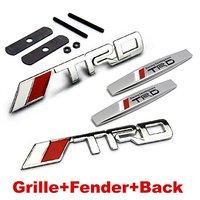 4pcs Sets AM80 TRD Racing Front Grille Fender Side Sticker Back Sticker Car Emblem Badge For