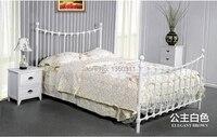 Домашняя продвижение tieyi кровать двуспальная кровать Средиземноморский железа плита кровать односпальная кровать мебель для спальни
