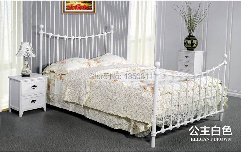 Home furnishing promotion tieyi bed double bed mediterranean iron hob bed single bed bedroom Home furniture single bed