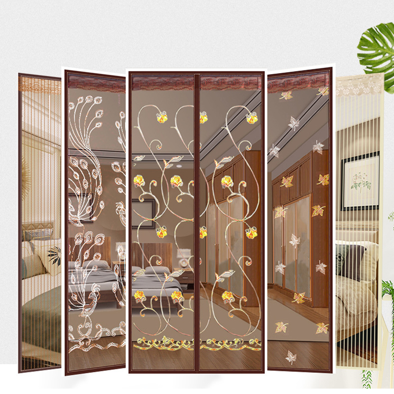 Anti Bug/insect/fly Mosquito Net Door Velcro Curtain Summer Magnetic Screen Door Net Mesh With Free Magic Stickers