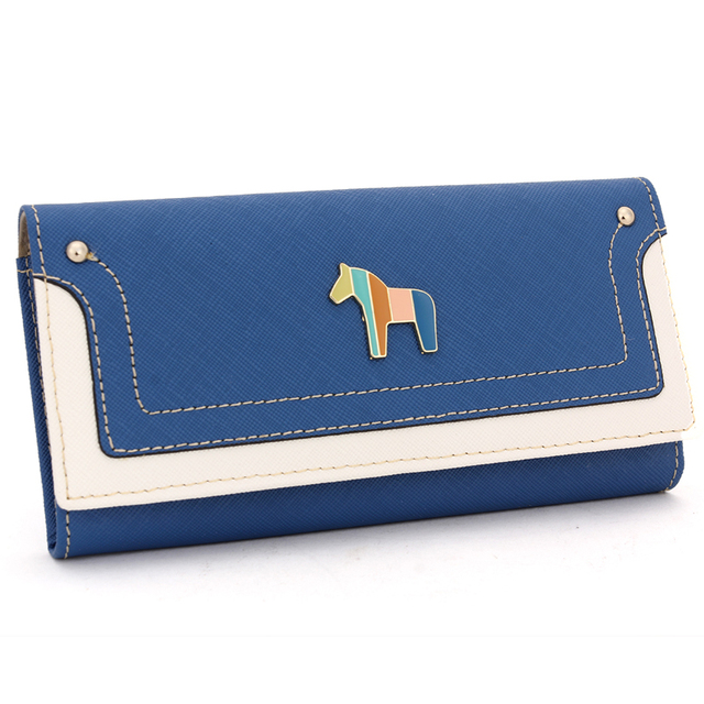 Fashion Long Genuine Leather Women Wallets Multicolor Hasp Classic Female Clutch Carteira Feminina Women Purse Wallet