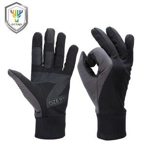 Image 1 - OZERO мужские рабочие перчатки с сенсорным экраном, водительские спортивные зимние уличные теплые ветрозащитные водонепроницаемые перчатки ниже нуля для мужчин и женщин 9002