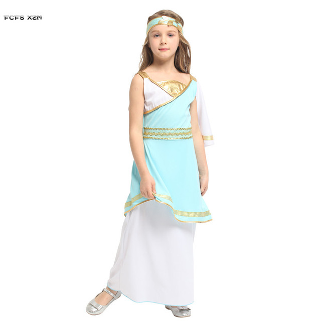 girls halloween goddess athena costumes kids children greece princess cosplays carnival purim stage play masquerade party