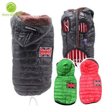 Новая зимняя одежда для собак для маленьких собак, теплый пуховик, водонепроницаемая куртка для собак, толстый хлопковый лыжный костюм, одежда для чихуахуа