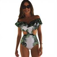One Piece Swimsuit Sexy Swimwear Women 2017 Summer Beach Wear Bathing Suit Bandage Backless Halter Top