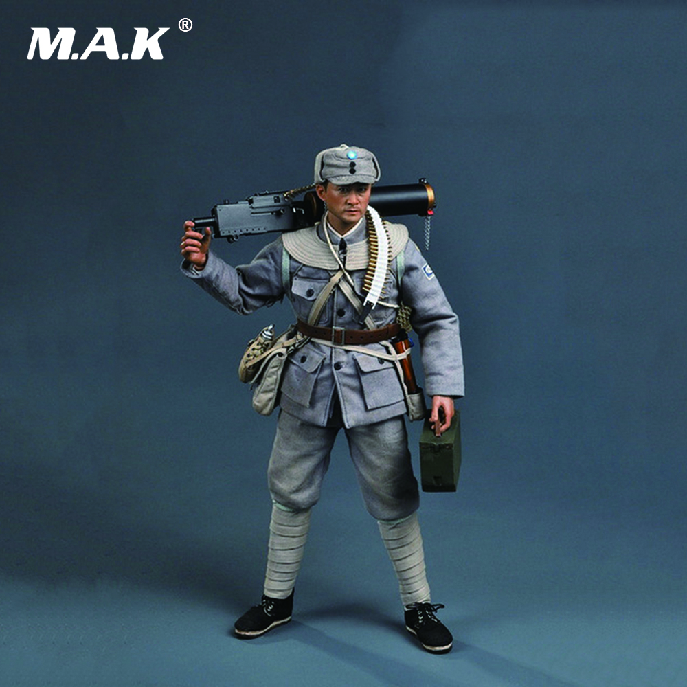 все цены на SS098 1/6 WWII Eighth Route Army Machine Gunner Collectible full set Figure онлайн
