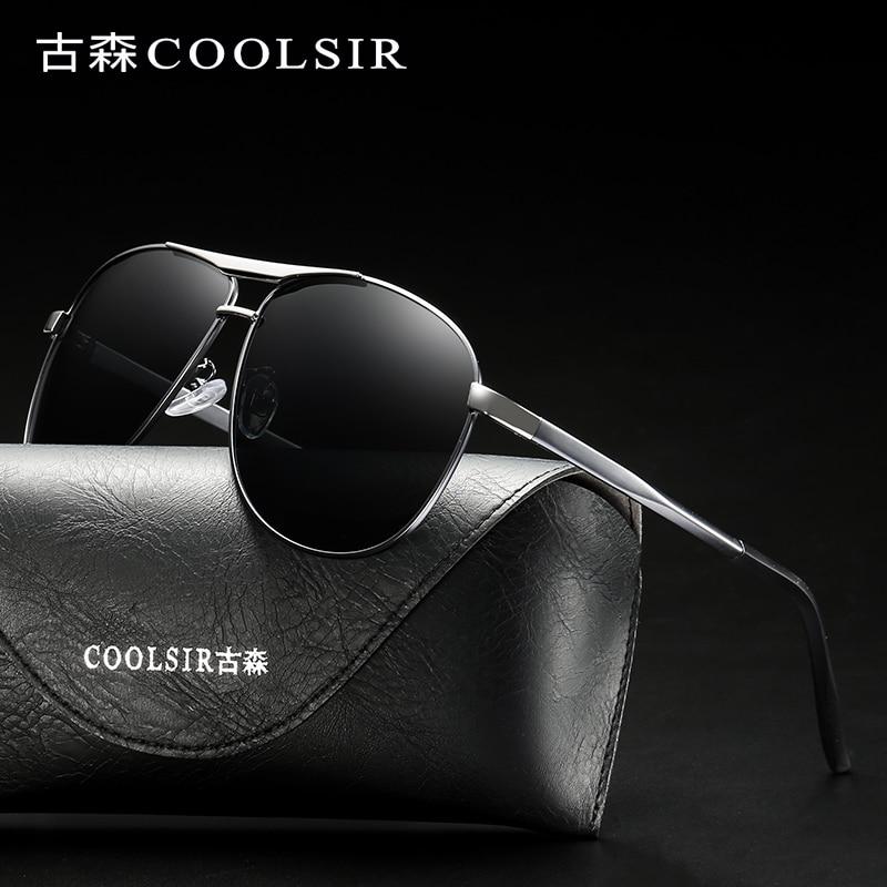 2018 Vintage Retro Aviator polarizirana sončna očala Moški nočna - Oblačilni dodatki