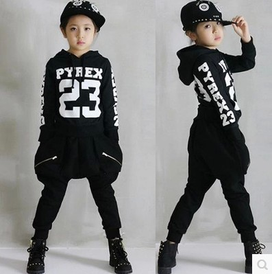 Children 39 S Hip Hop Clothing Sets Boys Girls Cotton Letters Street Dancing Clothes Twinset