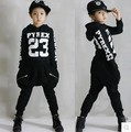 Children's Hip Hop Clothing Sets Boys Girls Cotton Letters Street Dancing Clothes Twinset Streetwear Sweatshirt Harem Pants G257