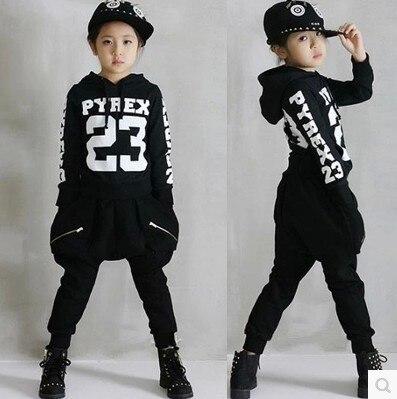 buy children 39 s hip hop clothing sets boys girls cotton letters street dancing. Black Bedroom Furniture Sets. Home Design Ideas