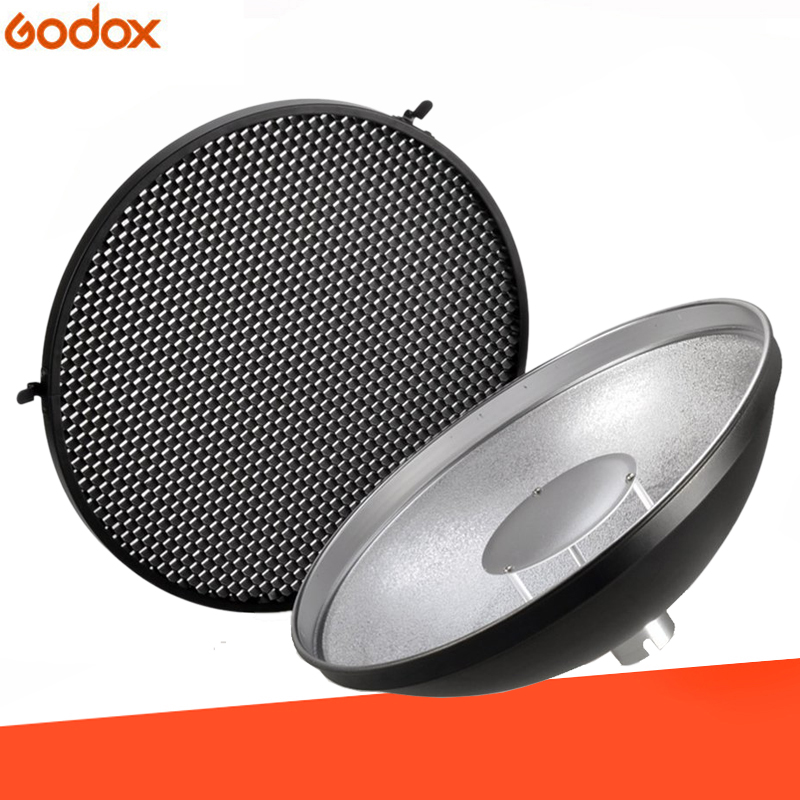 Godox AD-S3 réflecteur de plat de beauté avec couvercle en nid d'abeille pour Godox Witstro AD200 Flash de poche Godox AD180 AD360 AD360II Speedlite