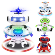 360 Rotating New Smart Space Dance Robot Dog Electronic Walking Toys With Music Light Christmas New Year Gift For Kids Toy lnteractive smart robot dog child toy smart light dancing robot dog toy electronic pet child birthday gift toys for children