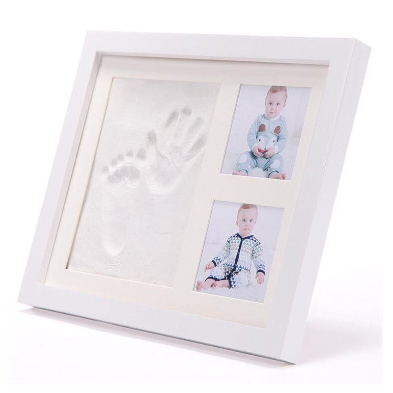 Baby Hand and Foot Print for Baby Photo Frame Baby Handprint mud and footprint Photo Frame Baby Souvenirs Baby items for Newborn