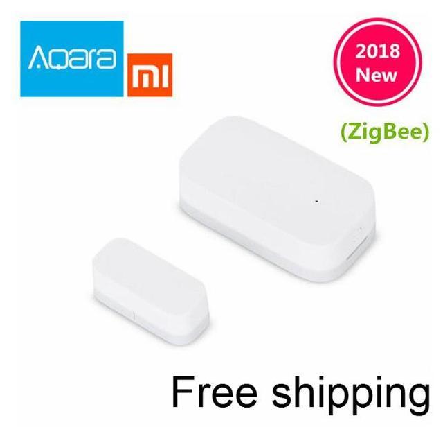 Original Xiaomi Aqara puerta Sensor de ventana Zigbee conexión inalámbrica inteligente Mini sensor de puerta funciona con Android IOS App control