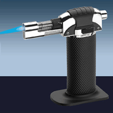 Behokic Portable Refillable Culinary Creme Brulee Butane Gas Cooking Torch Windproof Adjustable Heat Up to 1300 Degree Celsius