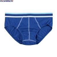 NORMEN (3 Pcs/Lots) Solid Color Men Briefs Cotton Comfortable Sexy Underwear Breathable Gay Underwear