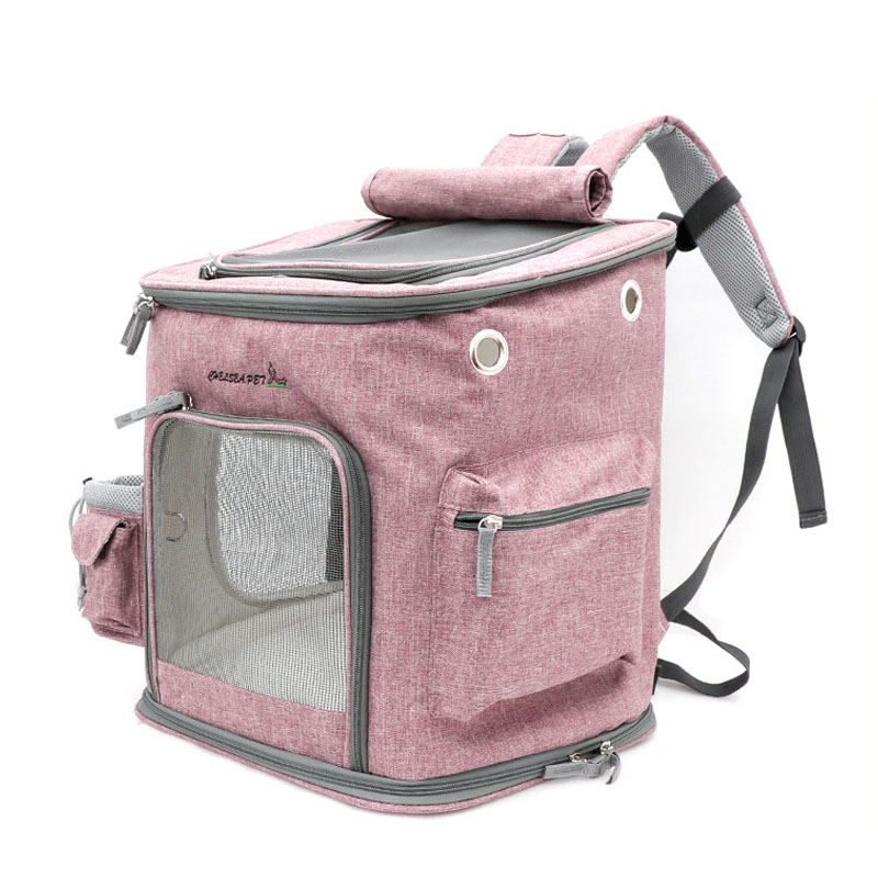New Arrival Pet Cat Backpack Breathable Mesh Dog Carrier Top Quality Pet Puppy Outgoing Bag Cat Travel HandBag in Carriers Strollers from Home Garden