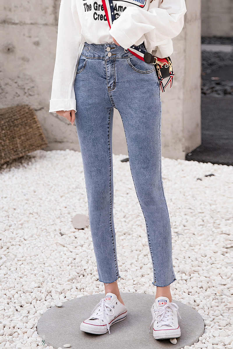Доставка из России, высокое качество, модные женские узкие джинсы-карандаш, Стрейчевые джинсы-скинни, брюки с высокой талией, женские качественные брюки