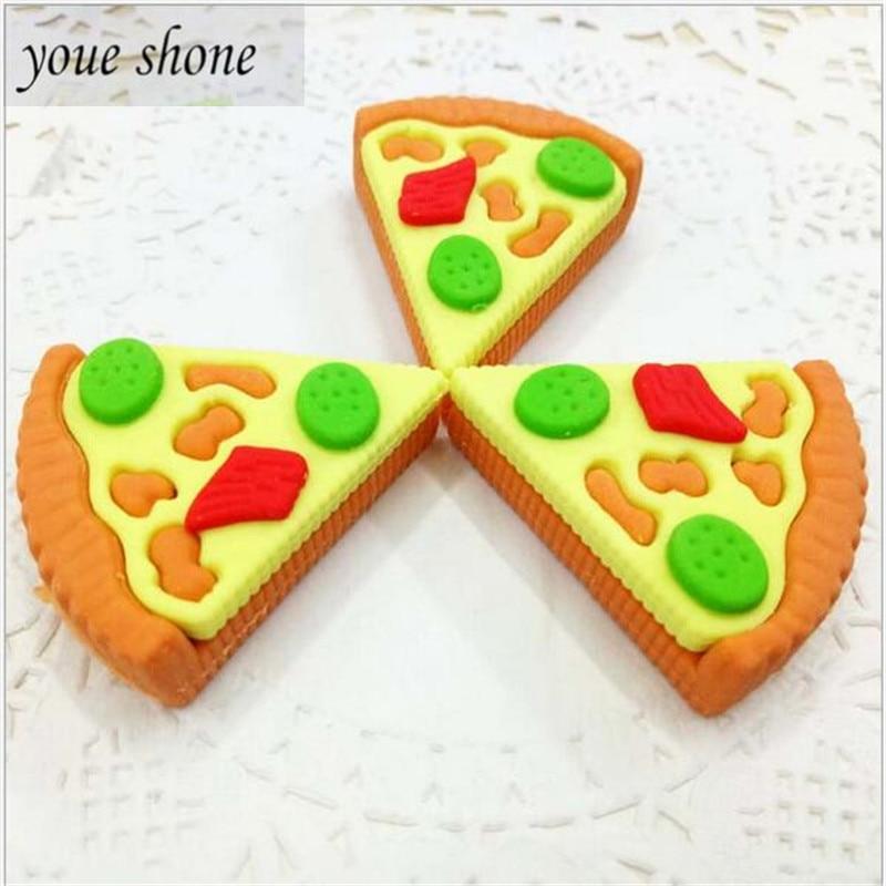 3 Pcs = 1 Set Of Pizza DIY Simulation Cake Eraser 3D Assembly Eraser Student Prize Children's Stationery Supply YOUE SHONE