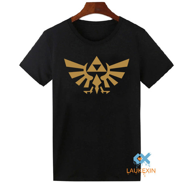 ab52e0b14 The Legend Of Zelda Triforce T Shirt Men's Video Game Nintendo Gamer T-Shirt  Homme Summer Tops Tee Shirts Short Sleeve Tshirt