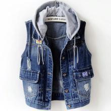 Acquista Vest Jean gratuita la Hood e goditi With spedizione AqRwAzg