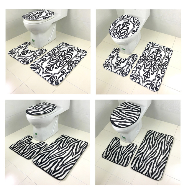 New 3pcs/set Leopard Tiger Leather Toilet For Home Tapetes Para Casa ...