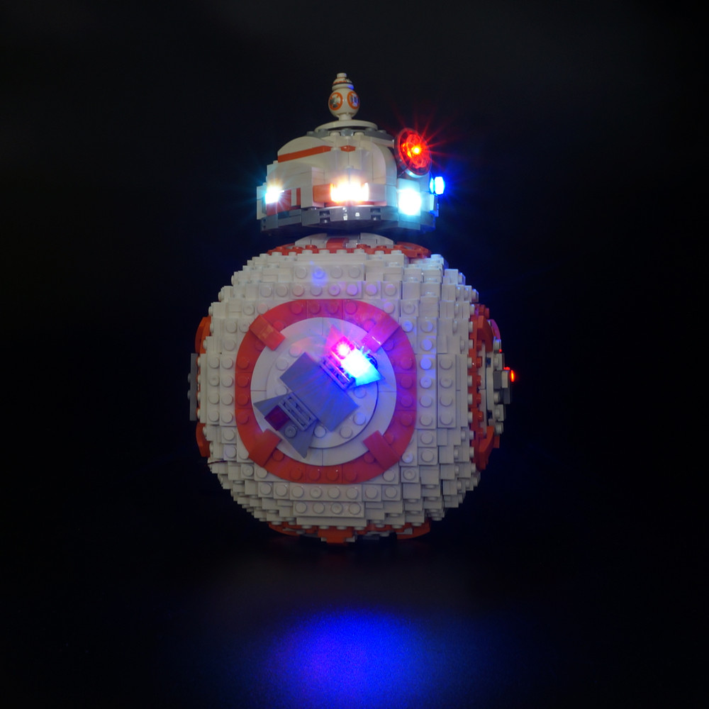 High Resilience not Include The Model Contemplative Kyglaring Led Light Kit For Lego 75187 Bb8 Robot