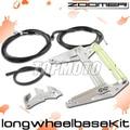 Zoomer RUCKUS FI NPS50 - bastidor del motor extender extensión Kit + Cables de la motocicleta de plata del centro de piezas
