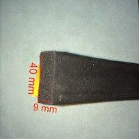 2mx40mmx9mm Self Adhesive Rectangular EPDM Rubber Foam Sponge Cabinet Electrical Ark Box Sealing Strip