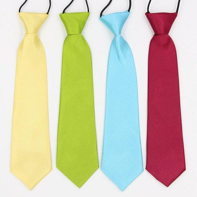 edf55d80a96a Boys Elastic Ties Children Plain Kids Ties Kids Neckties For Boys Girls  Tuxedo Tie 41 Colors