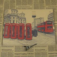 Póster vintage retro de papel Kraft