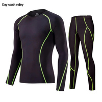 Compression Clothing Tracksuit For Men 2017 Men S Winter Suits Thermal Underwear Crossfit MMA Rash Guard