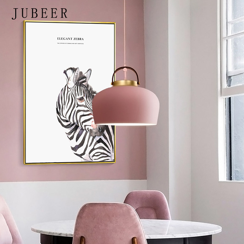 Pink Wall Art Leaves Posters and Prints Flower Canvas Painting for Living Room Decoration Pictures Zebra Frameless Poster in Painting Calligraphy from Home Garden