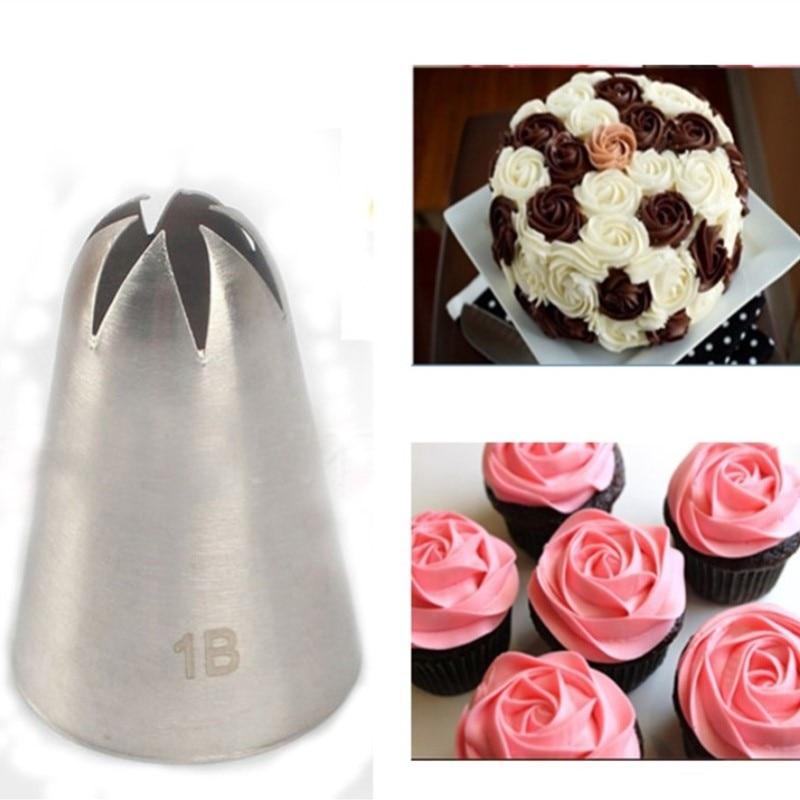 Boquilla de crema de gran tamaño n. ° 1B Punta de decoración Boquilla de hielo Herramientas para hornear y pasteles para tortas de fondant para hornear Utensilios para hornear CA251