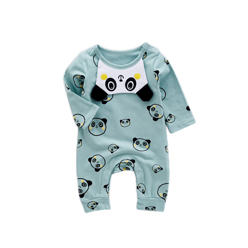 2017 Infant Rompers Baby Boys Girls Jumpsuit New born Bebes Clothing Toddler Baby Clothes Cute Panda Bibs Romper Baby Costumes 2016 new newborn baby boys girls clothes rompers cotton tracksuit boys girls jumpsuit bebes infant long sleeve clothing overalls
