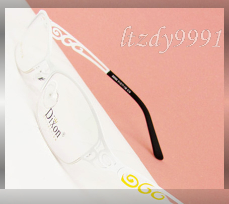 White Metal Half rim Optical Prescription EYEGLASS FRAMES Womens Glasses RX Spectacle D9569 Eyewear