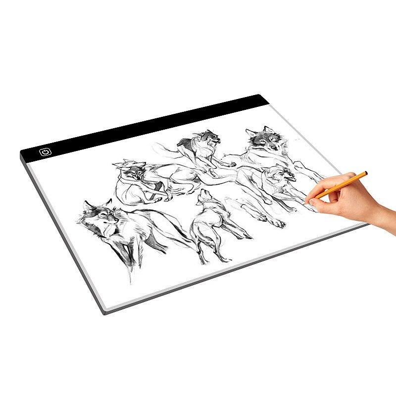 Portable Alimenté Par USB Ultra-mince A3 led planche à dessin Pochoir 3 Variation De Vitesse tableau d'artiste Dessin Copyboard