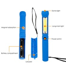 2 Modes Mini COB LED Flashlight Torch Outdoor Stand Handy Light Lamp Portable Work Camp Light Tent Lamp With Magnet Use 4*AAA
