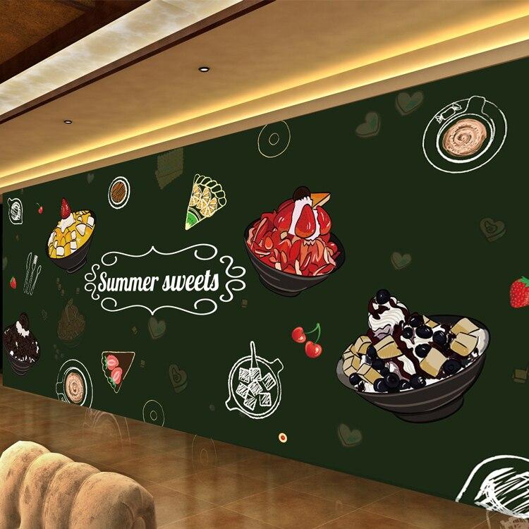 Custom 3d chalk large mural 3D wallpaper fruit gourmet pizza restaurant dessert tea coffee shop 3D wallpaper free shipping 3d dessert cake gourmet theme restaurant wallpaper cake shop dessert coffee dessert snack bar mural