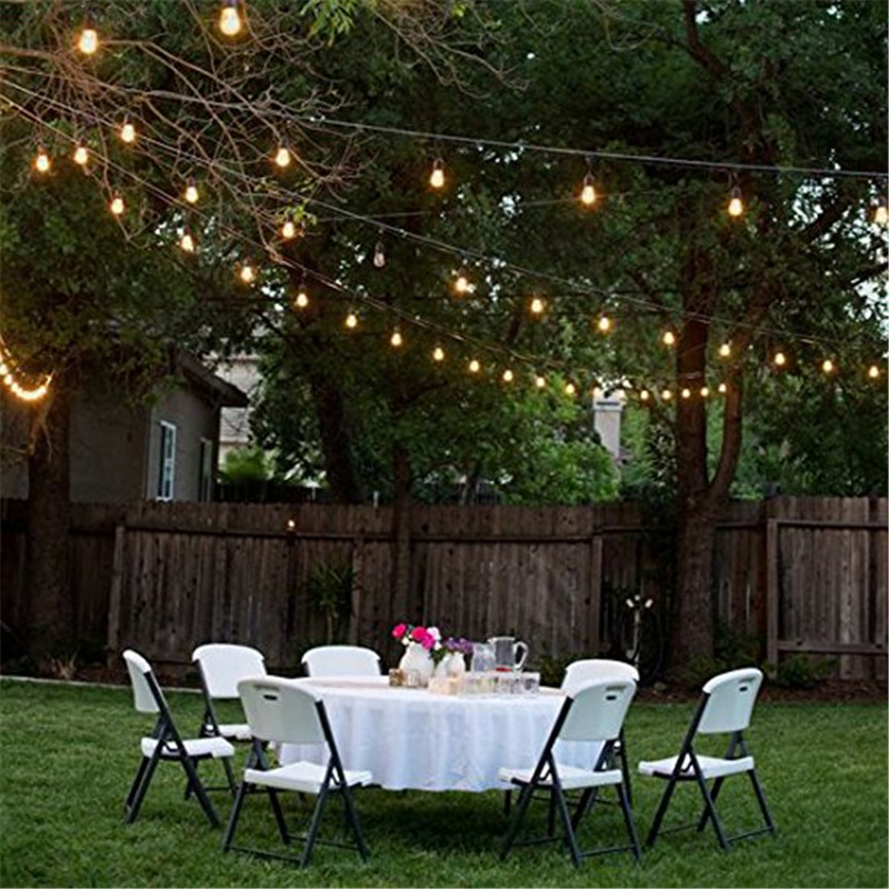 48ft bulbs included weatherproof outdoor string lights e26e27 48ft bulbs included weatherproof outdoor string lights e26e27 commercial grade heavy duty strand lighting with us eu au plug in holiday lighting from aloadofball Image collections