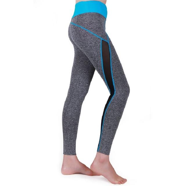 Nuevo 2016 Moda Casual Longitud Lateral Franja Vertical Leggings Gimnasio mujeres Niñas Lápiz Pantalones Delgados Femininas xz-1593