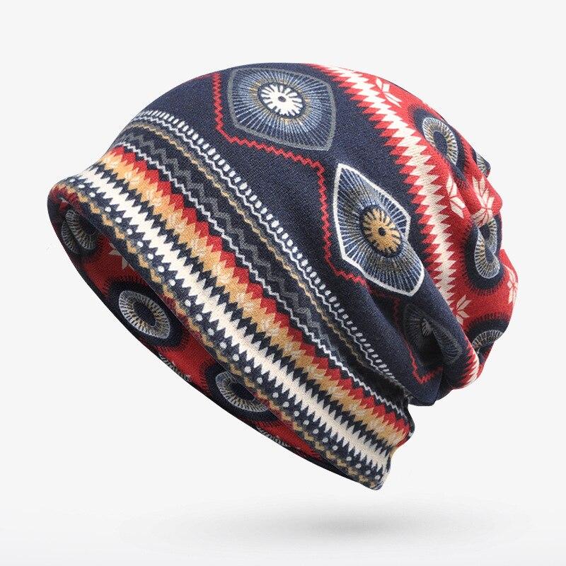 New arrival Vintage pattern Multi Purpose beanie&Scarf  Casual hat for Men Women Hip-hop cap for autum spring Elastic cap new arrival vintage pattern multi purpose beanie