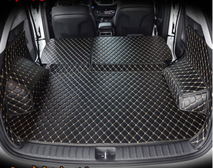 Image 5 - High quality Full set car trunk mats for Hyundai Tucson 2017 waterproof boot carpets cargo liner mat for Tucson 2016